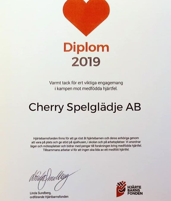 Cherry ❤️ Hjärtebarnsfonden